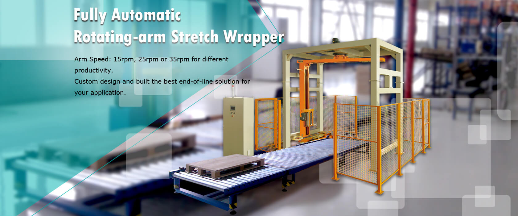 Fully Automatic Rotating-arm Stretch Wrapper