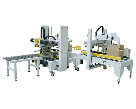 EJB5050-III + EFA5050-III Automatic Side Corner Sealing Machine & Flaps Folding Case Sealer
