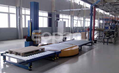 EAT 300PPS –RCT Fully Automatic Online Pallet Wrapper